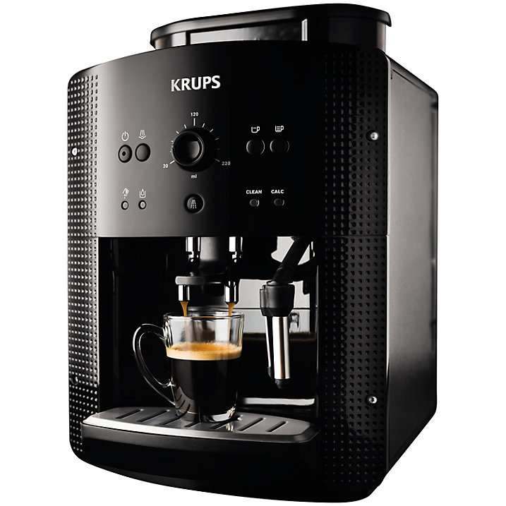 new krups ea8108 espresseria bean to cup coffee machine black ebay. Black Bedroom Furniture Sets. Home Design Ideas