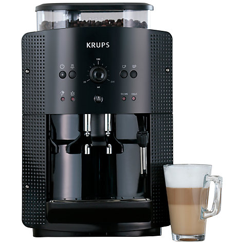 Buy KRUPS EA8108 Espresseria Bean-to-Cup Coffee Machine, Black Online at johnlewis.com