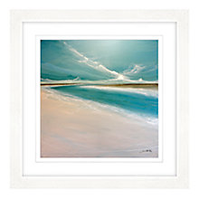 Buy Jane Skingley - Aqua Water, Framed Print, 57 x 57cm Online at johnlewis.com