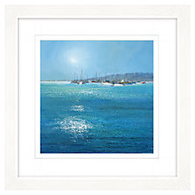 Buy Michael Sanders - Moored Boats Framed Print, 57 x 57cm Online at johnlewis.com