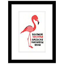 Buy Cartwheels and Conkers - Pink Flamingo Framed Print, 43 x 33cm Online at johnlewis.com