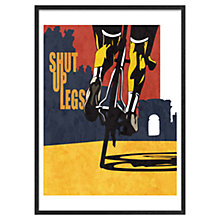 Buy Sassan Filsoof - Cycling Shut Up Legs Framed 73 x 53cm Online at johnlewis.com