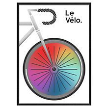 Buy Jeremy Harnell - La Tour De France White Framed 74 x 53cm Online at johnlewis.com