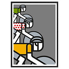 Buy Jeremy Harnell - Cycling Group Of Cyclists 73 x 53cm Online at johnlewis.com