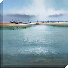 Buy Michael Sanders - Boats On The Sandbank, 80 x 80cm Online at johnlewis.com