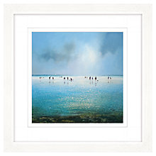 Buy Michael Sanders - A Day At The Beach Framed Print, 57 x 57cm Online at johnlewis.com