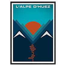 Buy Jeremy Harnell - Cycling L'aple D'huez 74 x 53cm Online at johnlewis.com