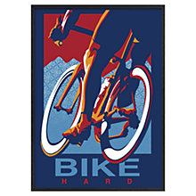Buy Sassan Filsoof - Cycling Bike Hard 73 x 53cm Online at johnlewis.com
