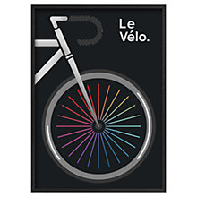 Buy Jeremy Harnell - La Tour De France Black 74 x 53cm Online at johnlewis.com