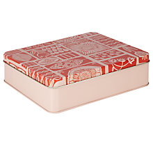 Buy John Lewis Malmo Large Storage Tin, Red/Pink Online at johnlewis.com