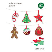 Buy John Lewis Make Your Own Christmas Garland Online at johnlewis.com