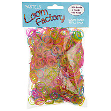 Buy Multi Loom Band Refills, Pack of 1200, Assorted Jelly Online at johnlewis.com