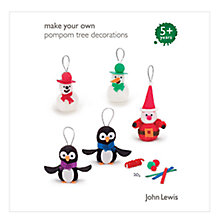 Buy John Lewis Make Your Own Pompom Santa/Snowmen/Penguin Online at johnlewis.com
