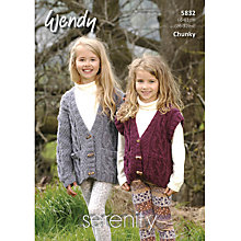 Buy Wendy Chunky Knitting Pattern, 5831 Online at johnlewis.com