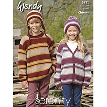 Buy Wendy Children's Chunky Jumper Knitting Pattern, 5830 Online at johnlewis.com