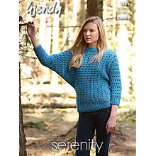 Buy Wendy Chunky Batwing Sweater Knitting Pattern, 5834 Online at johnlewis.com