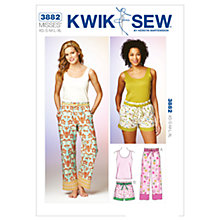 Buy Kwik Sew Women's Trousers and Shorts Sewing Pattern, 3882 Online at johnlewis.com