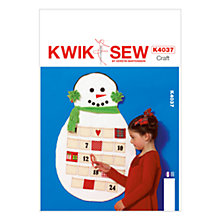 Buy Kwik Sew Christmas Advent Calender Sewing Pattern, K4037 Online at johnlewis.com