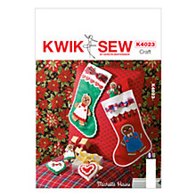 Buy Kwik Sew Christmas Ornaments Sewing Pattern, K4023 Online at johnlewis.com