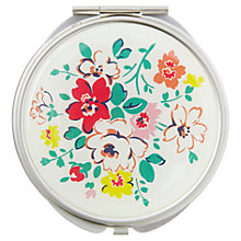 Buy Cath Kidston Clifton Rose Compact Mirror, White Online at johnlewis.com