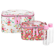 Buy Cath Kidston Clifton Rose Vanity Case Set, Pink / Red Online at johnlewis.com