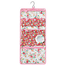 Buy Cath Kidston Clifton Rose Quilted Roll Washbag, Pink Online at johnlewis.com