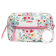 Buy Cath Kidston Bright Daisies Quilted Double Zip Cosmetic Bag, White Online at johnlewis.com