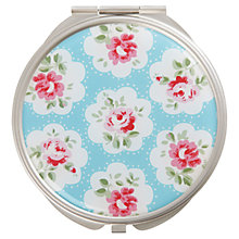 Buy Cath Kidston Provence Rose Compact Mirror, Blue Online at johnlewis.com