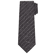Buy John Lewis Made In Italy Fine Stripe Wool Tie, Grey Online at johnlewis.com
