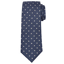 Buy John Lewis Made In Italy Dot Print Wool Tie, Navy Online at johnlewis.com