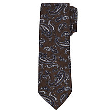 Buy John Lewis Wool Paisley Tie, Brown Online at johnlewis.com