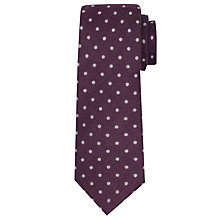 Buy John Lewis Dot Print Wool Tie, Purple Online at johnlewis.com