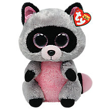 Buy Ty Beanie Boo Rocco Raccoon Soft Toy, 24cm Online at johnlewis.com