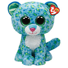 Buy Ty Beanie Boo Leona Leopard Soft Toy, 24cm Online at johnlewis.com