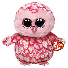 Buy Ty Beanie Boo Pinky Owl Soft Toy, 16cm Online at johnlewis.com