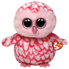 Buy Ty Beanie Boo Pinky Owl Soft Toy, 24cm Online at johnlewis.com