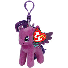 Buy Ty My Little Pony Beanie Babies Clips, Assorted Online at johnlewis.com