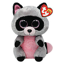 Buy Ty Beanie Boo Rocco Raccoon Soft Toy, 16cm Online at johnlewis.com