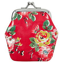 Buy Cath Kidston Kingswood Rose Mini Clasp Purse, Red Online at johnlewis.com