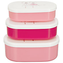 Buy Cath Kidston Ballerina  Snack Boxes, Set of 3 Online at johnlewis.com