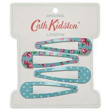 Buy Cath Kidston Hair Clips, Turquoise Online at johnlewis.com