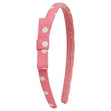 Buy Cath Kidston Spot Alice Band, Pink Online at johnlewis.com