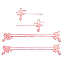 Buy Cath Kidston Girls' Ballerina Hair Set, Set of 4, Pink Online at johnlewis.com