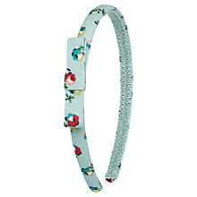 Buy Cath Kidston Girls' Elgin Ditsy Alice Band, Turquoise Online at johnlewis.com