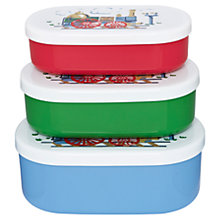Buy Cath Kidston Drinkbottle Tiny Trains Snack Boxes, Set of 3 Online at johnlewis.com