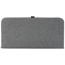Buy Dune Bexy Glitter Clutch Bag, Pewter Online at johnlewis.com