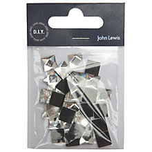 Buy John Lewis Hot Fix 10mm Square Stones, Pack of 30, Clear Online at johnlewis.com