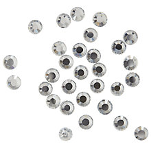 Buy John Lewis Round Hot Fix, 10mm, Clear Online at johnlewis.com
