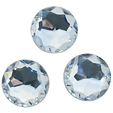 Buy John Lewis Sew On Gems, 20mm, Pack of 20, Clear Online at johnlewis.com