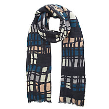 Buy Kin by John Lewis Cross Hatch Scarf, Multi Online at johnlewis.com